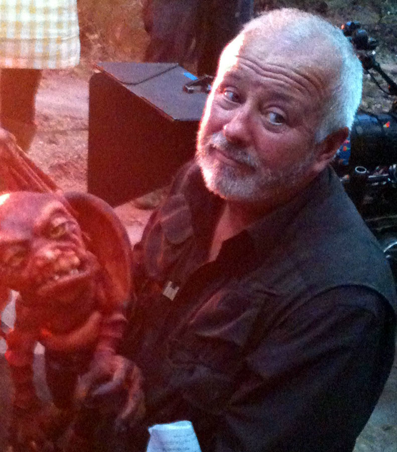 Phil Eason Puppeteering Jeff The Demon On Yonderland Series One